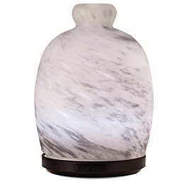 ScentSationals Cloudy Day Large Lighted Ultrasonic Essential Oil Diffuser in White/Grey