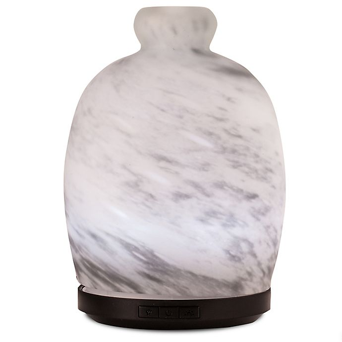 Alternate image 1 for ScentSationals Cloudy Day Large Lighted Ultrasonic Essential Oil Diffuser in White/Grey