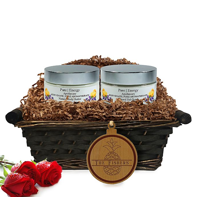 Alternate image 1 for Pure Energy Apothecary Supreme Sensation Pure Aromatherapy Split Letter Pineapple Gift Basket