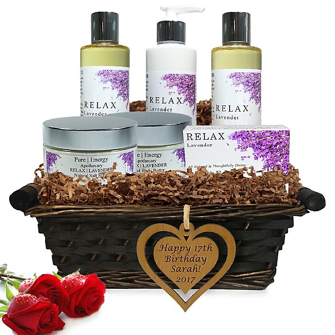 Alternate image 1 for Pure Energy Apothecary Ultimate Body Lavender Birthday Gift Basket