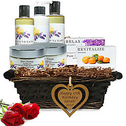 Pure Energy Apothecary Ultimate Body Pure Aroma Birthday Gift Set with Basket