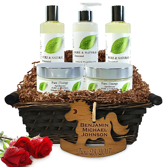 Alternate image 1 for Pure Energy Apothecary Ultimate Body Pure Natural Gift Set for Baby with Basket