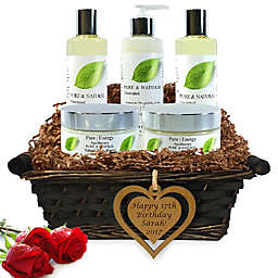 Pure Energy Apothecary Ultimate Body Pure Natural Birthday Gift Set with Basket