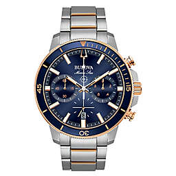 Bulova Men's 45mm Marine Star Chronograph Watch in Rose-Goldtone Stainless Steel