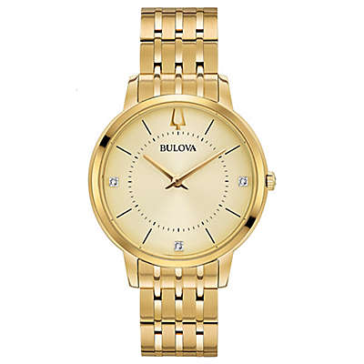 Bulova Ladies' 36mm Classic Diamond Watch in Goldtone Stainless Steel