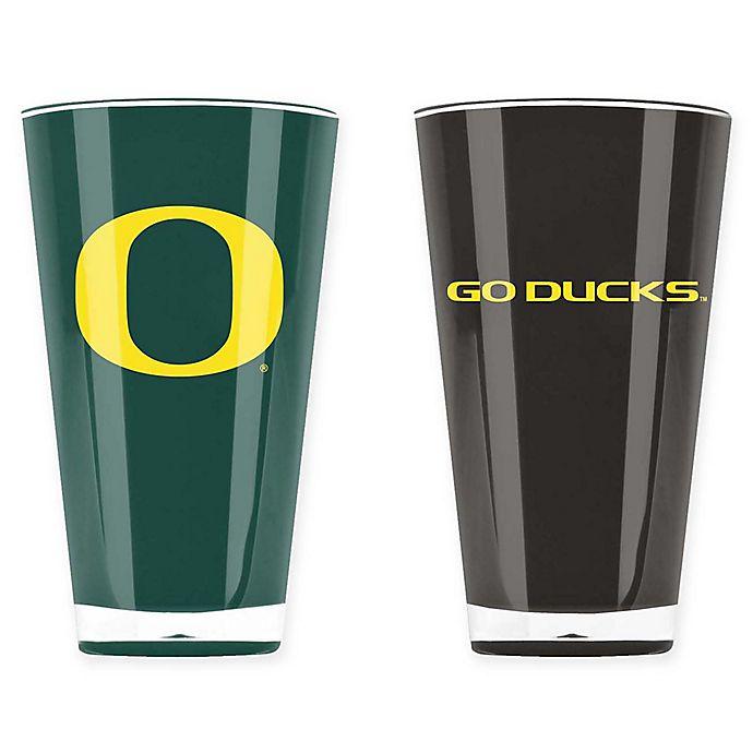 Alternate image 1 for University of Oregon 20 oz. Insulated Tumblers (Set of 2)