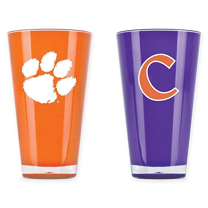 Alternate image 1 for Clemson University 20 oz. Insulated Tumblers (Set of 2)