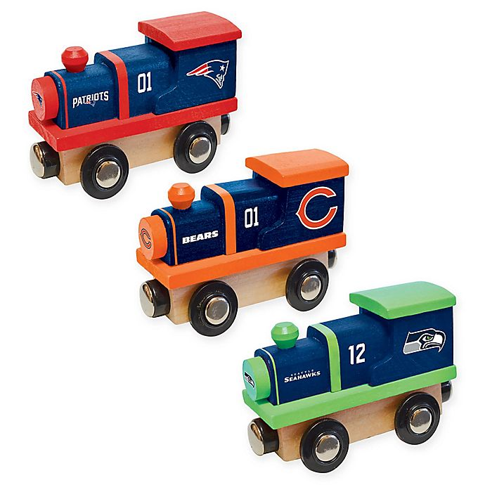 Alternate image 1 for NFL Team Wooden Toy Train