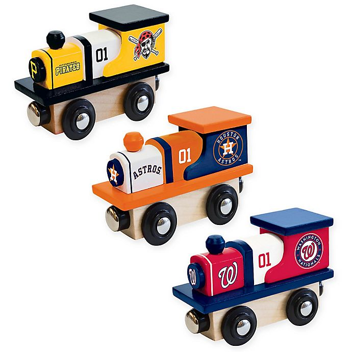 Alternate image 1 for MLB Team Wooden Toy Train Collection