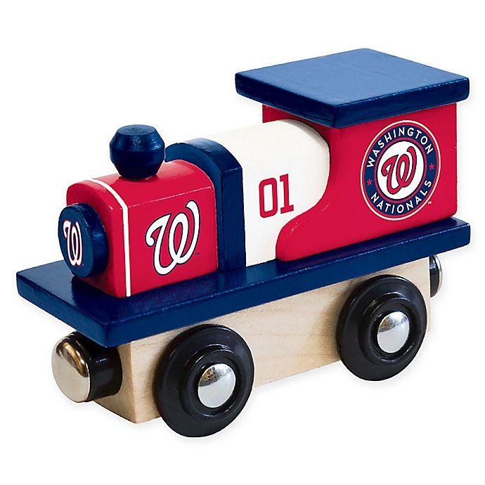 Alternate image 1 for MLB Washington Nationals Team Wooden Toy Train