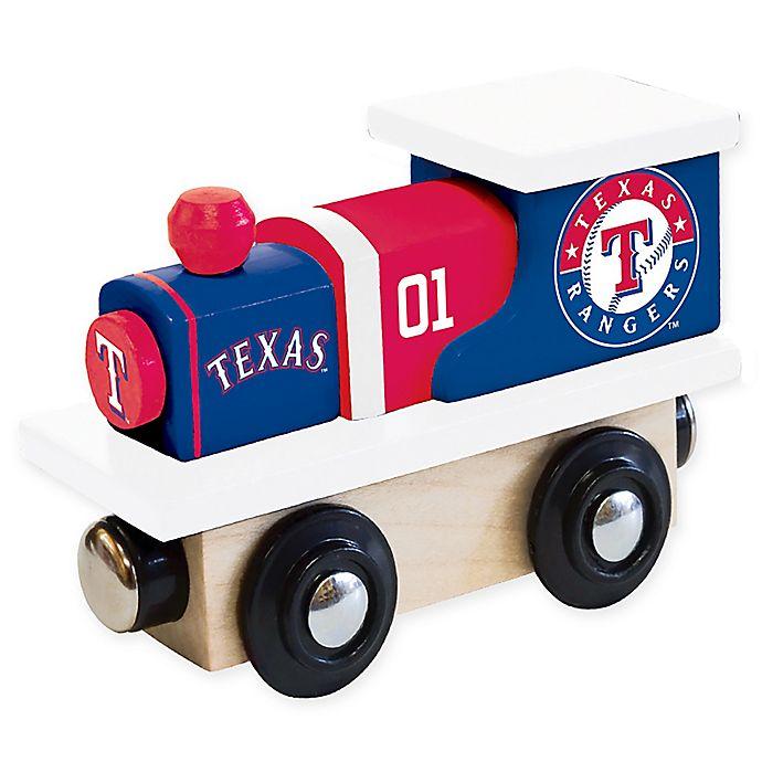 Alternate image 1 for MLB Texas Rangers Team Wooden Toy Train