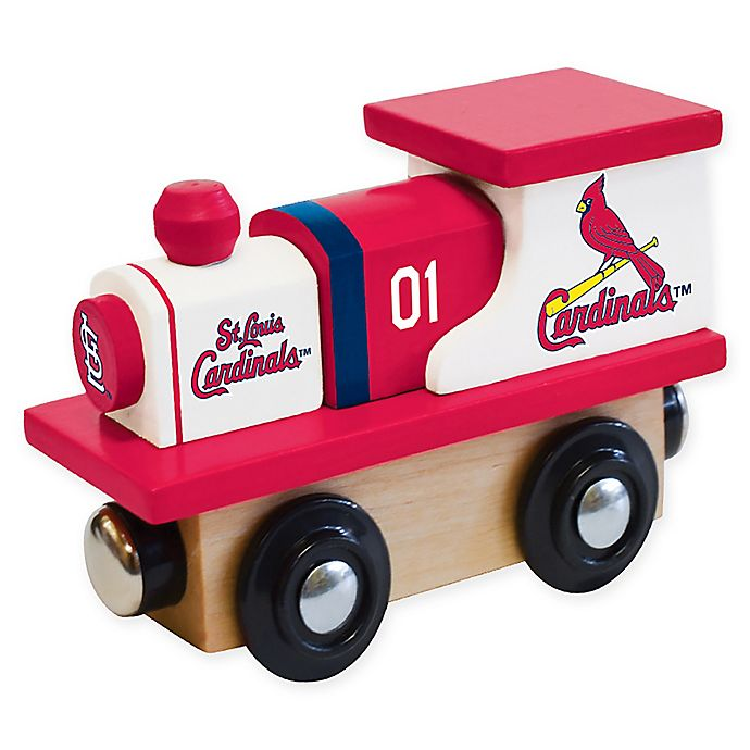 Alternate image 1 for MLB St. Louis Cardinals Team Wooden Toy Train