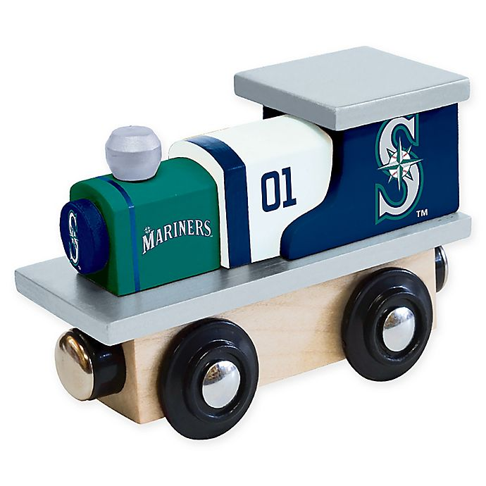 Alternate image 1 for MLB Seattle Mariners Team Wooden Toy Train