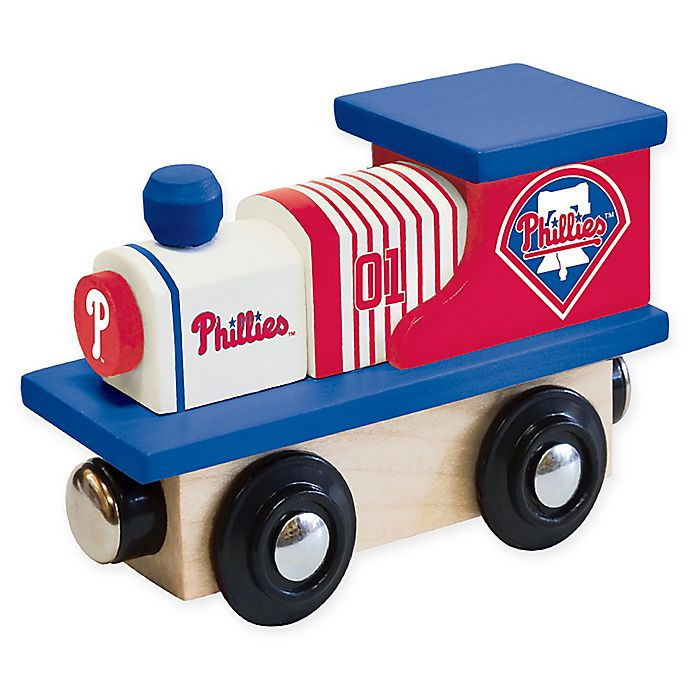 Alternate image 1 for MLB Philadelphia Phillies Team Wooden Toy Train