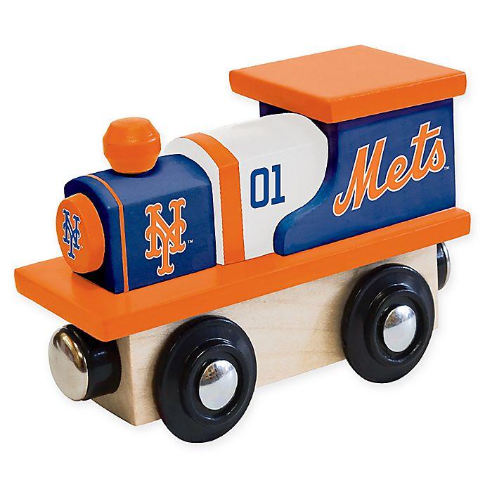 Alternate image 1 for MLB New York Mets Team Wooden Toy Train