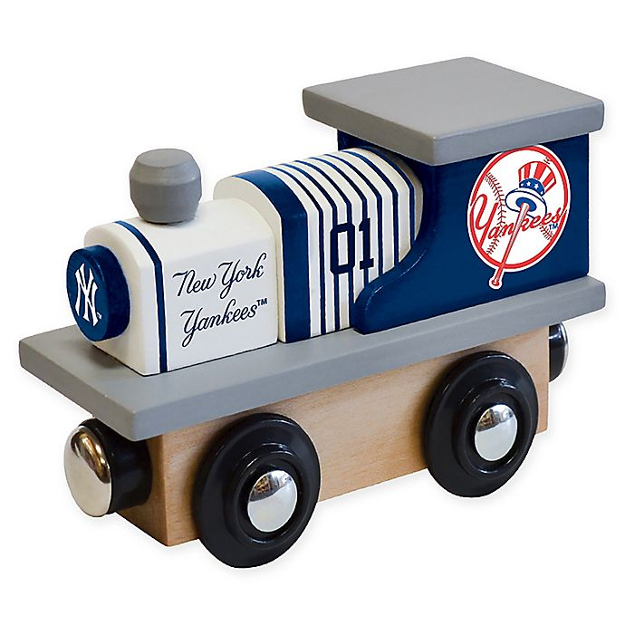 Alternate image 1 for MLB New York Yankees Team Wooden Toy Train