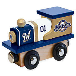 MLB Milwaukee Brewers Team Wooden Toy Train