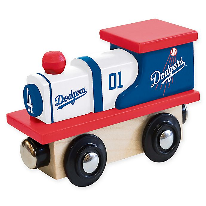 Alternate image 1 for MLB Los Angeles Dodgers Team Wooden Toy Train