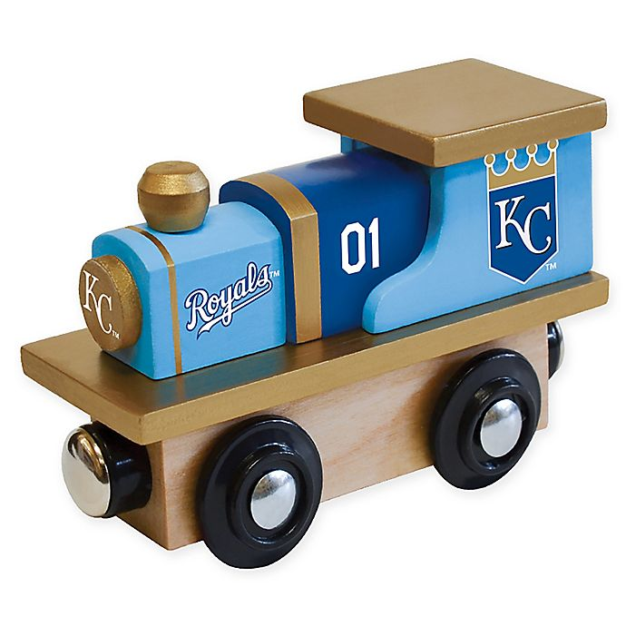 Alternate image 1 for MLB Kansas City Royals Team Wooden Toy Train