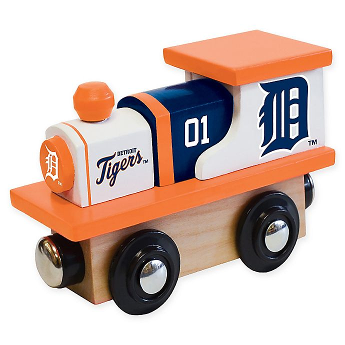 Alternate image 1 for MLB Detroit Tigers Team Wooden Toy Train