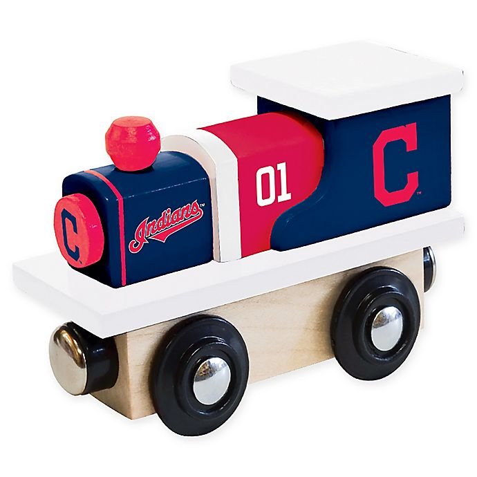Alternate image 1 for MLB Cleveland Indians Team Wooden Toy Train