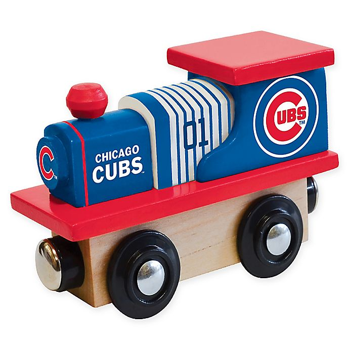 Alternate image 1 for MLB Chicago Cubs Team Wooden Toy Train