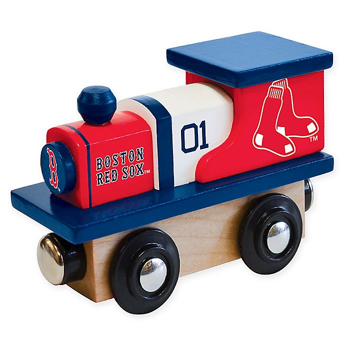 Alternate image 1 for MLB Boston Red Sox Team Wooden Toy Train