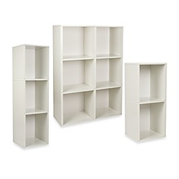 Way Basics Tool-Free Assembly Bookcase and Storage Shelf in White