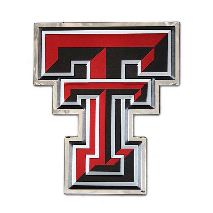 Texas Tech University Small Double T Logo Wall Art In Redwhite