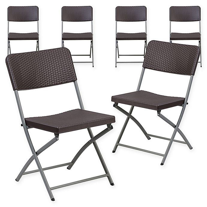 Admirable Flash Furniture Rattan Plastic Folding Chairs In Brown Set Cjindustries Chair Design For Home Cjindustriesco