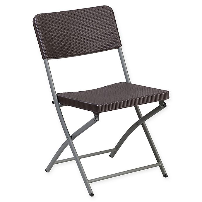Super Flash Furniture Rattan Plastic Folding Chair In Brown Bed Cjindustries Chair Design For Home Cjindustriesco