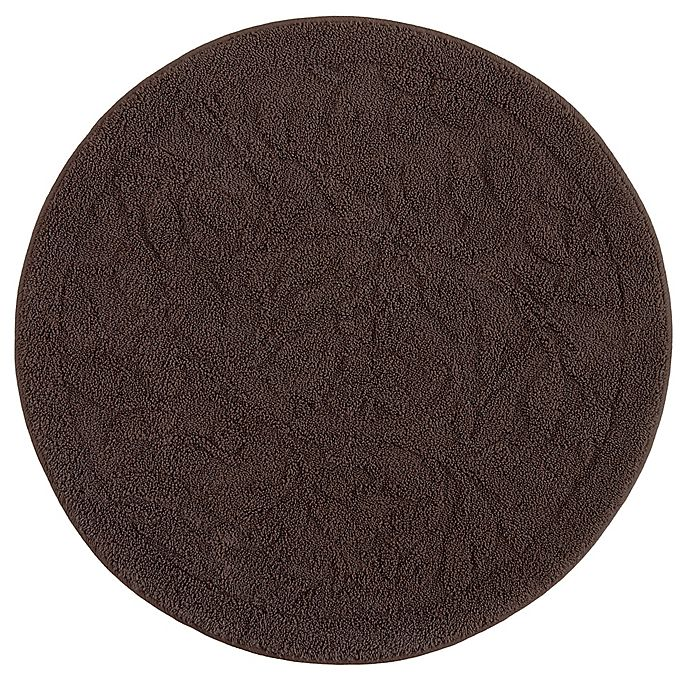 Alternate image 1 for Mohawk Home Foliage 3-Foot Round Accent Rug in Chocolate