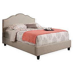 Abbyson Living Keira Upholstered Platform Bed in Cream