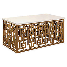 Abbyson Living Jaxton Coffee Table in Gold/White