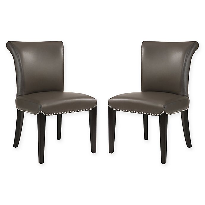 Alternate image 1 for Abbyson Living Aubrey Dining Side Chairs in Grey (Set of 2)
