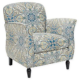 Madison Park Escher Accent Chair in Blue