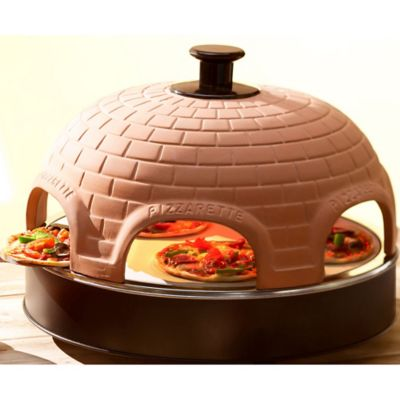 Pizzarette Classic 6-Person Mini Pizza Oven with Cooking ...