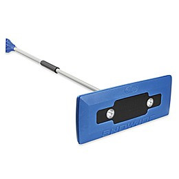 Snow Joe 4-in-1 LED Lighted Snow Broom/Ice Scraper in Blue