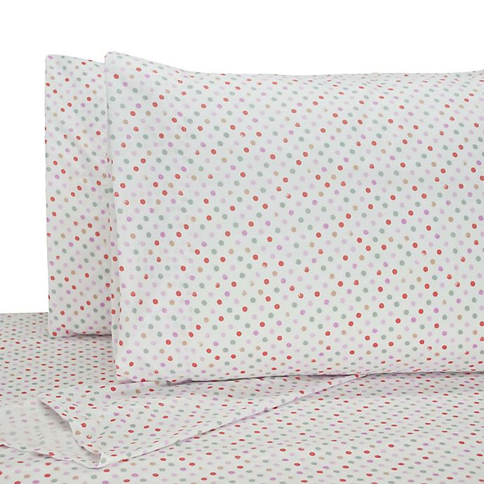 Alternate image 1 for My World Llama Twin Sheet Set in White/Red