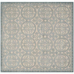 Safavieh Cambridge Lindsey 8-Foot Square Area Rug in Dusty Blue/Cement