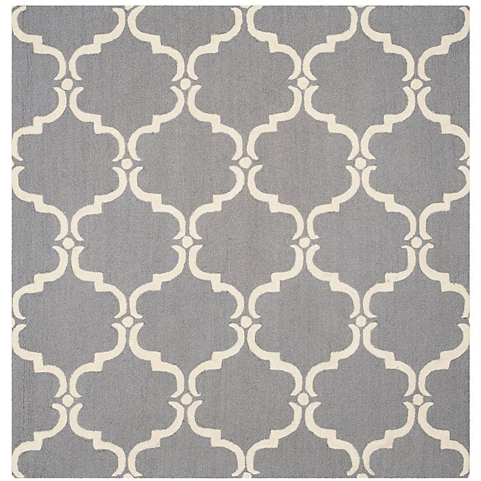 Alternate image 1 for Safavieh Cambridge Diana 8-Foot Square Area Rug in Dark Grey/Ivory