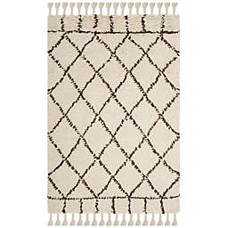 Safavieh Casablanca Saffron 4' x 6' Area Rug in Ivory/Brown