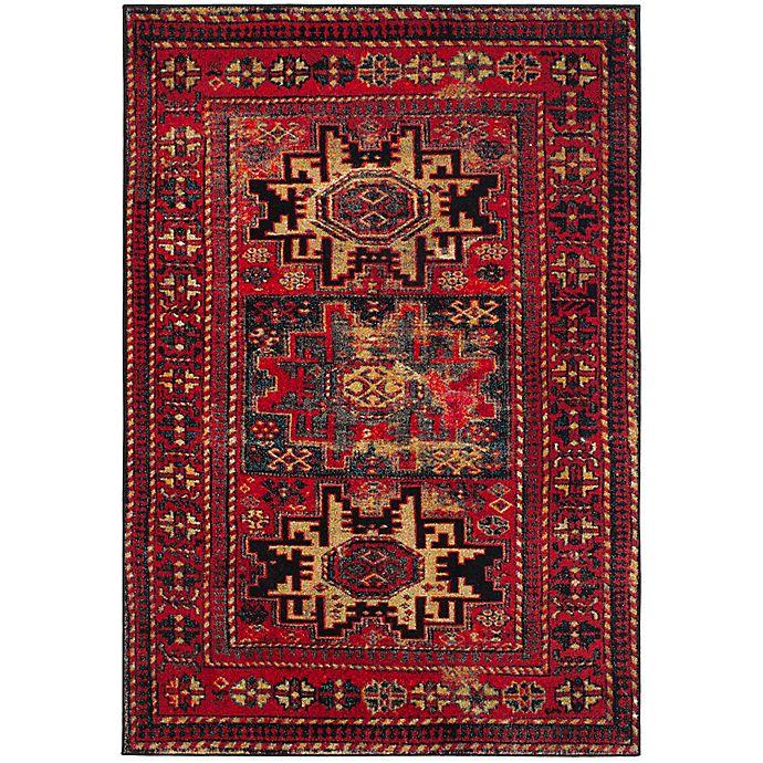 Alternate image 1 for Safavieh Vintage Hamadan Azar 6-Foot 7-Inch x 9-Foot Area Rug in Red