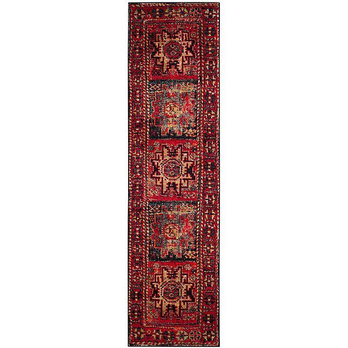 Alternate image 1 for Safavieh Vintage Hamadan Azar 2-Foot 2-Inch x 14-Foot Runner in Red