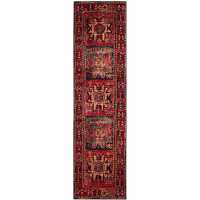 Alternate image 1 for Safavieh Vintage Hamadan Azar 2-Foot 2-Inch x 20-Foot Runner in Red