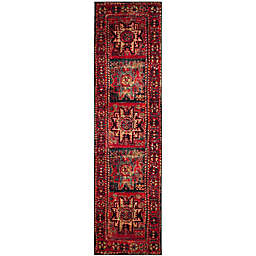 Safavieh Vintage Hamadan Azar 2-Foot 2-Inch x 20-Foot Runner in Red