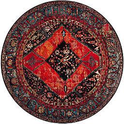 Safavieh Vintage Hamadan 5-Foot 3-Inch x 5-Foot 3-Inch Farzin Rug in Orange