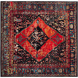 Safavieh Vintage Hamadan 6-Foot 7-Inch x 6-Foot 7-Inch Farzin Rug in Orange
