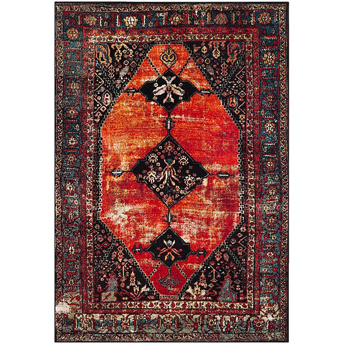 Alternate image 1 for Safavieh Vintage Hamadan 6-Foot 7-Inch x 9-Foot Farzin Rug in Orange