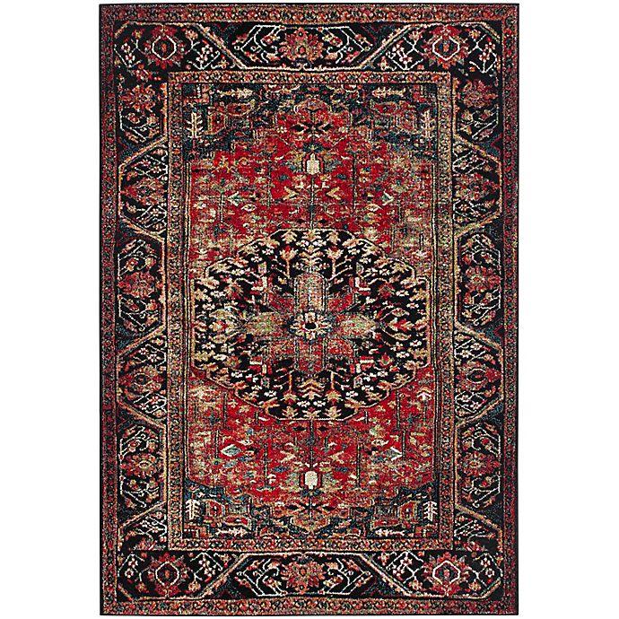 Alternate image 1 for Safavieh Vintage Hamadan 6-Foot 7-Inch x 9-Foot Rahim Rug in Red
